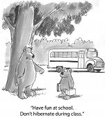 Bear Cub is Going to School