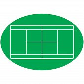 Vector of a tennis court