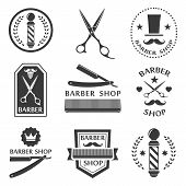 stock photo of barber  - Barber shop logo - JPG