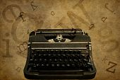 Typewriter Grunged Background for Text