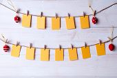 pic of egg whites  - Empty Labels For Text Happy Easter Or German Text Frohe Ostern Which Means Happy Easter Hanging On A Line With Four Red And White Dotted And Striped Easter Eggs White Wooden Vintage Or Rustic Background For Easter Greetings - JPG