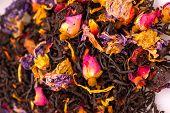 Closeup image of colorful tea