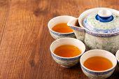Still life of tea crockery