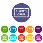 Limited offer flat icon