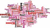 Valentine Themed Typographical Pattern