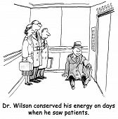 Doctor Conserves Energy