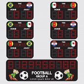 Scoreboard Football Tournament.
