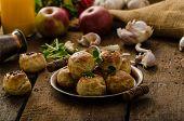 Cheese Mini Buns From Domestic Dough