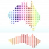 Map Of  Commonwealth Of Australia With With Dot Pattern