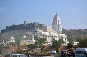 Jaipur, India - January 31, 2014: Birla Mandir (laxmi Narayan) Is A Hindu Temple In Jaipur