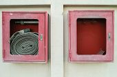 Abandoned Fire Hose Cases