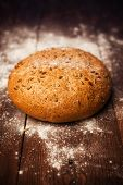 Rustic Bread On Table