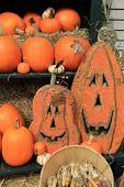Jack-O-Lanterns and pumpkins