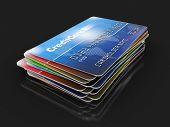 Credit Cards (clipping path included)