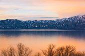 Lake Sevan Spring Sunset