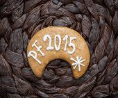 The Title Pf 2015 Written On Gingerbread Cookie