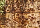 Faces At The Entrance Of Bayon Temple, Angkor Wat, Cambodia