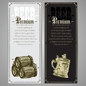 picture of drawing beer  - hand drawing premium beer menu design for  pub - JPG
