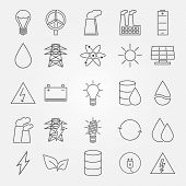Vector energy and industrial icon set