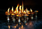 Butter Lamps With Flames