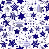 Blue Stars Background