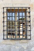 Wrought Iron Grille Window