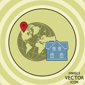 Single Vector Color Flat Icon. Hotel Location.