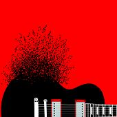 picture of guitar  - Abstract guitar - JPG