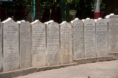 Row Of The Stone Slabs Of The Buddhist Canon ( Tripitaka Texts ).