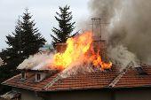 Burning House Roof
