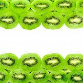 Kiwi Fruit Slices Isolated On A White