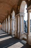 foto of palladium  - Perspective of the columns of the Basilica palladiana in Vicenza - JPG