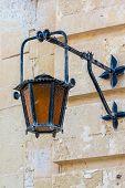 Vintage light in Mdina, Malta