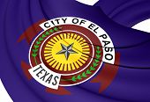 Flag Of El Paso, Usa.