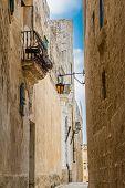 Maltese narrow street in Mdina