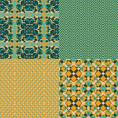 Set of retro patterns.