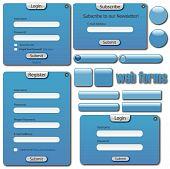 Blue Web Forms