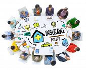 Diversity Casual People Insurance Policy Digital Communication Concept