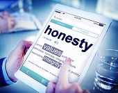 stock photo of honesty  - Digital Dictionary Honesty Values Integrity Concept - JPG