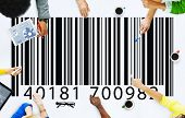 Bar Code Marketing Data Concept