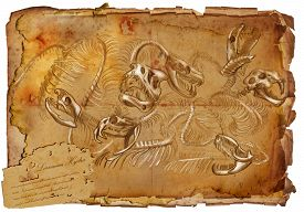 foto of hydra  - Illustration of a series of legendary animals and monsters  - JPG
