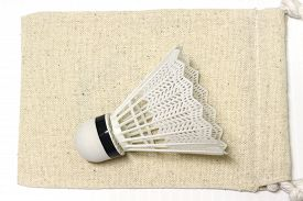 stock photo of game-cock  - equipment badminton Shutter Cock on a white background  - JPG