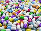 pic of antidepressant  - Tablets pills capsule background - JPG