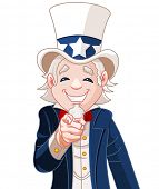 foto of uncle  - Great illustration of Uncle Sam pointing - JPG