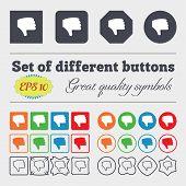 pic of dislike  - Dislike Thumb down Hand finger down icon sign - JPG