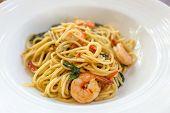 image of thai cuisine  - close up of spicy spaghetti thai cuisine - JPG
