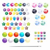 picture of beads  - Set of different colorful beads - JPG
