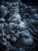 foto of immoral  - Gardian statue at the Bali temple entrance Indonesia - JPG