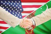 picture of turkmenistan  - Businessmen shaking hands  - JPG