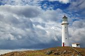 picture of lighthouse  - Cape Egmont Lighthouse - JPG